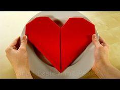 Servietten falten Herz - ❤️ einfache DIY Tischdeko - z.B. für Hochzeit - YouTube