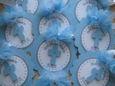 Personalized Baptism Favor Tags.....Confirmation, First communion, Christening Set Of 12 by CreativePartyCrafts on Etsy https://www.etsy.com/listing/121365759/personalized-baptism-favor