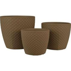 Make an excellent upgrade for indoor plants with the addition of this durable Pride Garden Products Diamond Brown Ceramic Pots. Potted Plants, Indoor Plants, Ceramic Pots, Pot Sets, Earth Tones, Garden Products, Greenery, Planter Pots, Ceramics