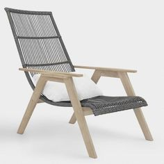 Teak Wood and All Weather Wicker Hakui Chairs Set of 2 by World Market - Modern Cheap Outdoor Chairs, Affordable Outdoor Furniture, Patio Chairs, Outdoor Furniture Sets, Outdoor Decor, Furniture Ideas, Ikea Furniture, Porch Furniture, Furniture Websites