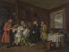 William Hogarth, Marriage à-la-mode 6, 1743-1745, olio su tela, National Gallery (Londra)