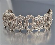Antique Victorian Bracelet French Silver Filigree Wide Cannetille Bow 1800s Jewelry    Love this!