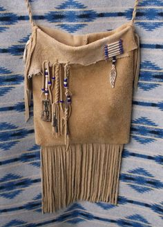 Native American Style Heavy Elk Hide Suede Bucket by misstudy