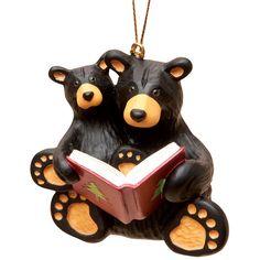 Big Sky Carvers Bearfoots Christmas Story Ornament Reading Bears