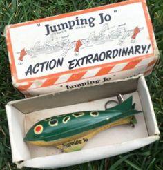 """""""Jumping Jo"""" Fishing Lure w/ Box."""