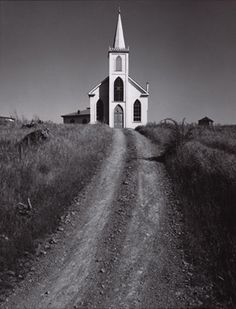 Photography: Ansel Adams— Church & Road, Bodega, California 1953
