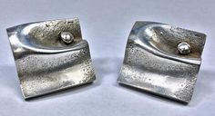Pair of Scandinavian Modernism Sterling Cufflinks, Matti Hyvarinen,. Modernism, Scandinavian, Studs, Silver Jewelry, Cufflinks, Antiques, Earrings, Vintage, Ideas