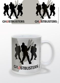 Ghostbusters - Silhouettes - Ceramic Coffee Mug. Dishwasher and microwave safe. Capacity: ca 11oz. Official Merchandise. FREE SHIPPING