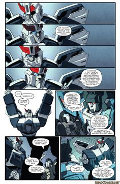 Transformers: More Than Meets the Eye 56 Page 10 Ooooo wrong words Prowl. Wrong words.