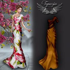 Second Life Sales : Celina Gown Promo Offer The Celina gold brown gown is a promotional offer from Topazia on marketplace, Only 50 units...