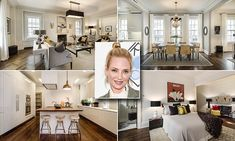 The property is located in a limestone and brick prewar co-op, where Pulp Fiction actress Uma Thurman lived for several years, and boasts five bedrooms and three and half baths. Uma Thurman, Celebrity Houses, Celebrity Photos, Home And Living, Living Room, Manhattan Apartment, Kill Bill, Scandi Style, Home Buying