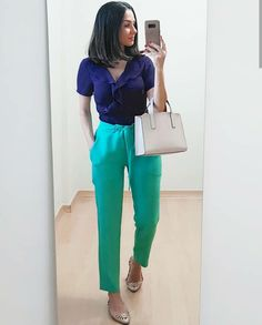 Color Blocking Outfits, Lawyer Outfit, Deep Autumn, Pants Outfit, Leggings Are Not Pants, Fashion Outfits, Womens Fashion, Casual Chic, Ideias Fashion