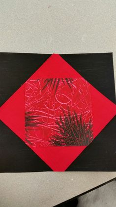 Collage Board Square using Paste Paper