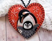 Made to Order - Penguin Love Ornament