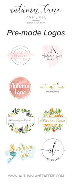 Affordable premade logo designs - feminine branding, premade brand, brand identity, small business, graphic design, logo design, brand package, bakery logos, florist logos, photography logos.