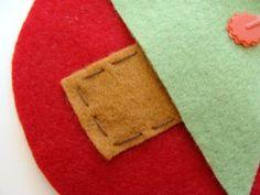 avental para vinho - artesanato de natal com feltro