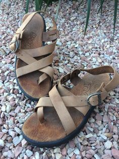 a98094278c6b Teva Leather Sandals Athena Size 6.5 Womens Used  fashion  clothing  shoes   accessories