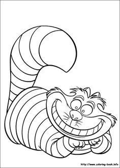 coloring page Alice in Wonderland on Kids-n-Fun. Coloring pages of Alice in Wonderland on Kids-n-Fun. More than coloring pages. At Kids-n-Fun you will always find the nicest coloring pages first! Cat Coloring Page, Cartoon Coloring Pages, Animal Coloring Pages, Coloring Book Pages, Coloring Pages For Kids, Kids Coloring, Frozen Coloring, Coloring Worksheets, Fairy Coloring