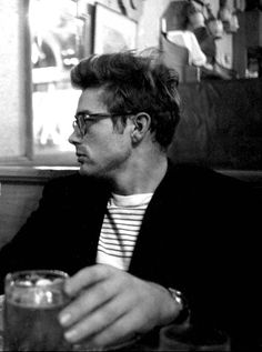 - James Dean photographed by Dennis Stock, 1955.