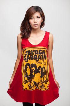 Black Sabbath T Shirt Dress by CelebFashion.