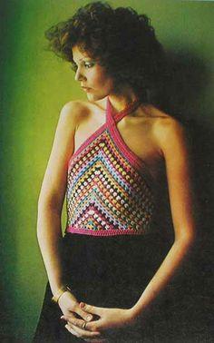 Crocheted Halter Top Illustration