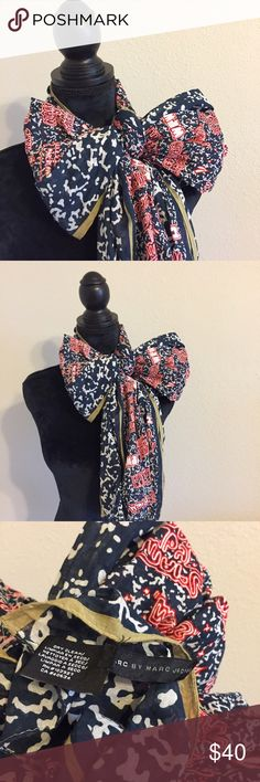 """Marc Jacobs Doodle Scarf Amazing! Measures 31 by 76"""". Beautiful condition. No trades. Marc by Marc Jacobs Accessories Scarves & Wraps"""