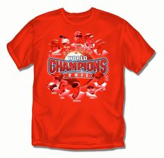 St. Louis Cardinals MLB 2011 World Series Champions Players Mens Tee (Large)