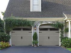 Garage Door Panels, Diy Garage Door, Garage Door Styles, Garage Door Makeover, Garage Door Design, Black Garage Doors, Exterior Makeover, Garage Ideas, Front Doors