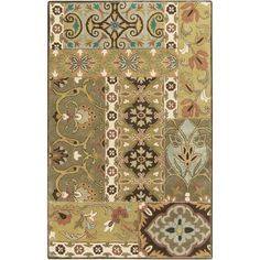 Artistic Weavers Galerius Olive 5 ft. x 8 ft. Indoor Area Rug-S00151007417 - The Home Depot