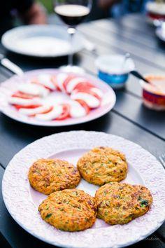 Sötpotatis och zucchiniplättar
