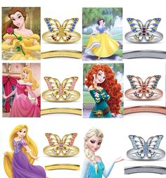 Beautiful Women's 925 Silver Disney Princess Buterfly Engagement & Wedding Ring #DisneyButterflyEngagementRing