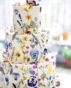 Check out the latest expected wedding food trends in 2020 to make your celebration bigger than ever. Food trends of 2020 weddings are here. Floral Wedding Cakes, Wedding Cakes With Flowers, Wedding Cake Designs, Cake Wedding, Colourful Wedding Cake, Cake With Flowers, Pretty Cakes, Beautiful Cakes, Amazing Cakes