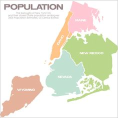 New York City boroughs compared to American states with similar populations.
