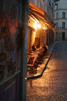 Day 8 - Paris, France - The Latin Quarter  Late night on rue Mouffetard… (Latin Quarter, Paris)
