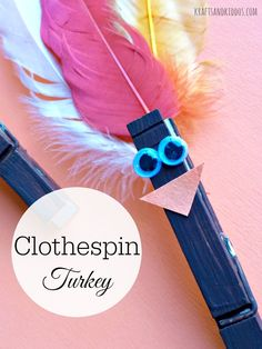 Turkey Clothespin Magnet