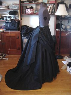 Gorgeous sample of completed Truly Victorian pattern TV208, 1870 Trained Skirt Ensemble, Skirt option A