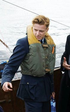 Jack Lowden on set of Dunkirk