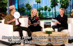 """Justin Bieber joined Madonna on Ellen to play some rounds of """"Never Have I Ever."""" 