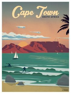 Cape Town Poster by IdeaStorm Studios ©2016. Available for sale at http://ideastorm.bigcartel.com