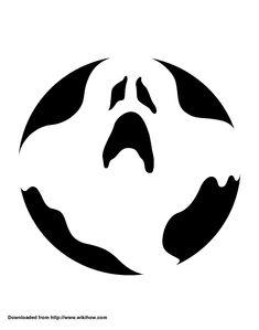 Printable Ghost Pumpkin Template
