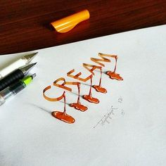 Turkish calligrapher and graphic designer Tolga Girgin, previously featured for his 3D calligraphic work, has since produced even more stunning pieces. He experiments with perspective and shadow, creating optical illusions that make his words appear to be standing upright on paper, or weaving through the lines in notebooks.