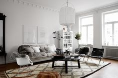'Minimal Interior Design Inspiration' is a biweekly showcase of some of the most perfectly minimal interior design examples that we've found around the web - Interior Design Examples, Interior Design Inspiration, Scandinavian Interior Design, Scandinavian Living, Nordic Design, Cozy Living Rooms, My Living Room, Home And Living, Ikea