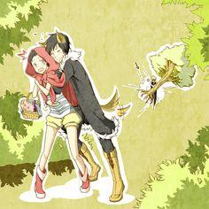 Anime, , Izaya, , Shizuo, , Mikado, , wolf izaya, , angry shizuo, , Durarara!!, , funny