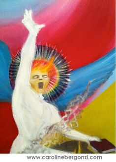 Art studio glimpse: #Painting through #Caroline_Bergonzi's eyes…  Ref: Oil Paint