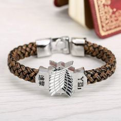 Buy ATTACK ON TITANS Survey Corps Emblem Bracelet at Pica Collection for only $ 9.95