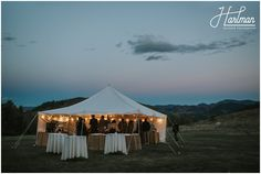 Sun Mountain Lodge wedding reception at Outdoor Party Tent.   Image by Hartman Outdoor Photography