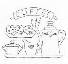 Pintura Country: Figuras de Chá e Cozinha - Riscos