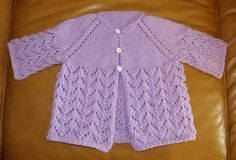 Lovely Lace Knitted Baby Cardi