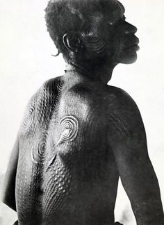 Africa | Tribal scarification.  DR Congo.  ca. 1919 | © E. Torday / National Geographic Society