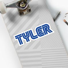 'Gamer name Tyler' Sticker by el-patron Gamer Names, Decorate Notebook, Glossier Stickers, Prints